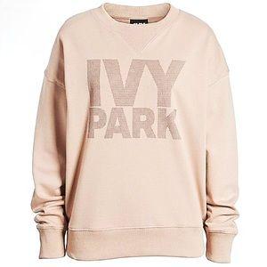 Ivy Park Dot Textured Sweatshirt Pale Pink NWT